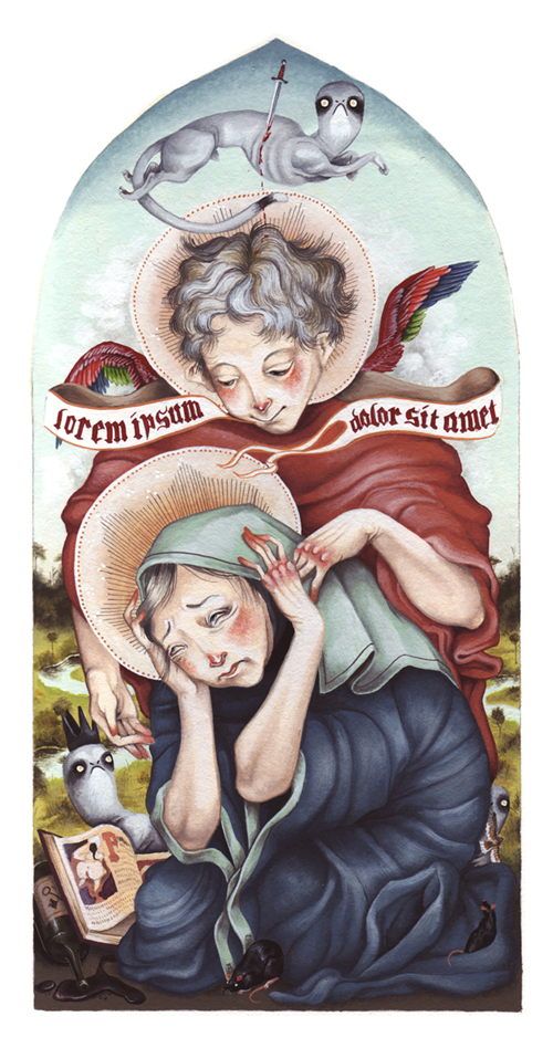 """Allison Sommers """"Annunciation"""" - showing this month at Exhibit A Gallery as part of their 'Bipolar' group show"""