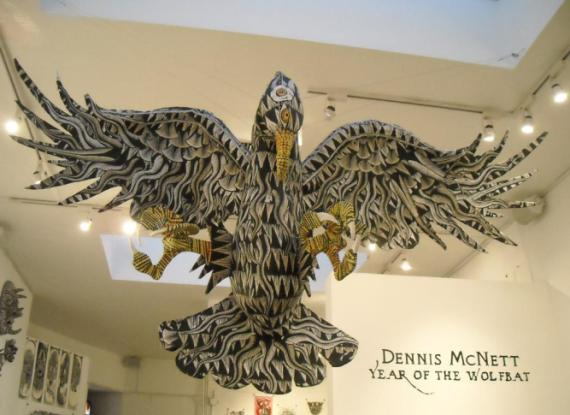 Dennis McNett's AMAZING eagle sculpture that greeted patrons as they entered our main gallery. This was created over the course of two days. Check our flickr for shots of the process.