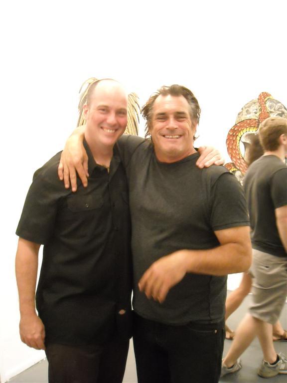 McNett with skate legend and artist Steve Olson