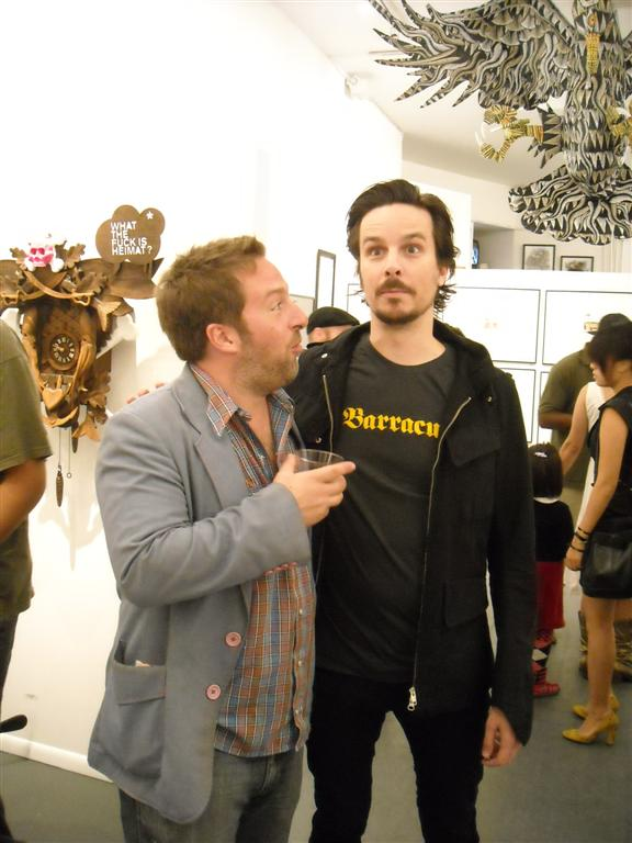 Harlan Levey from MODART with Tim Biskup