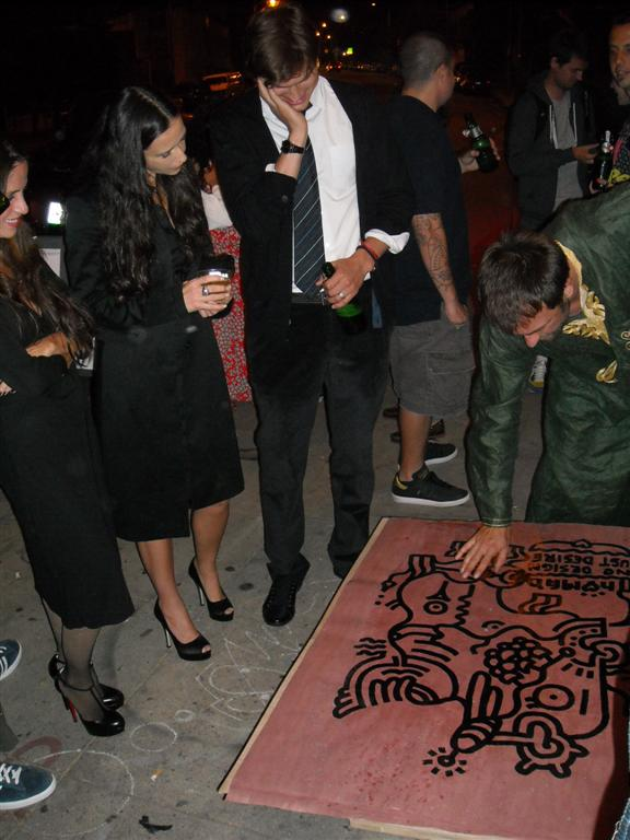 Soleil Moon Frye, Demi Moore and Ashton Kutcher alongside NOMAD