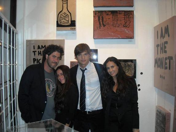 NOMAD fans Jason Goldberg, Soleil Moon Frye, Ashton Kutcher and Demi Moore