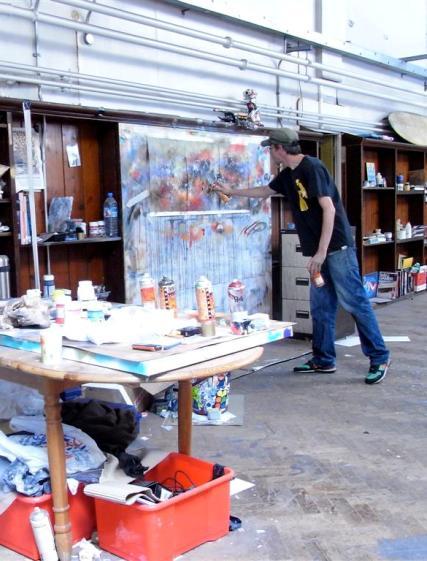 Mr. Jago at work in his studio