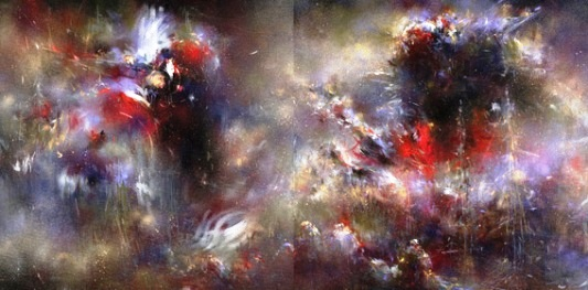 "Mr. Jago ""Oil Age Man"" / mixed media on canvas"