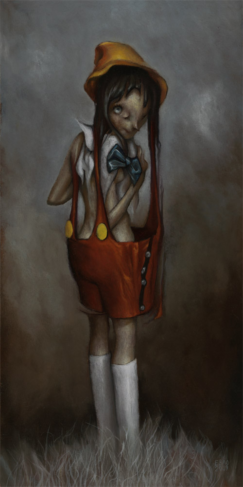 "Esao Andrews ""Nina Madera"" - featured in 'Farewell Avery' - his debut LA solo show at Thinkspace this Friday"