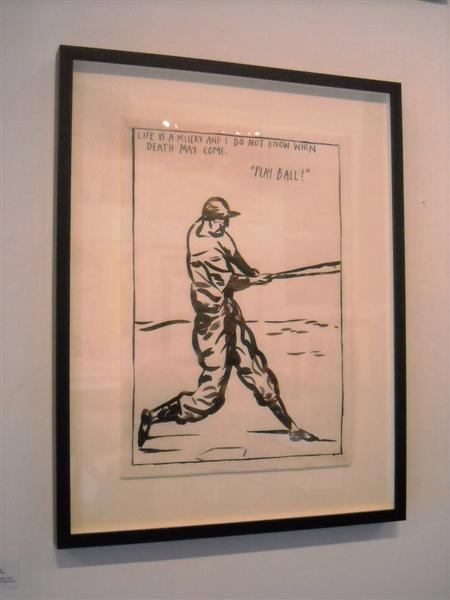 One of many awesome works from Raymond Pettibon in the auction