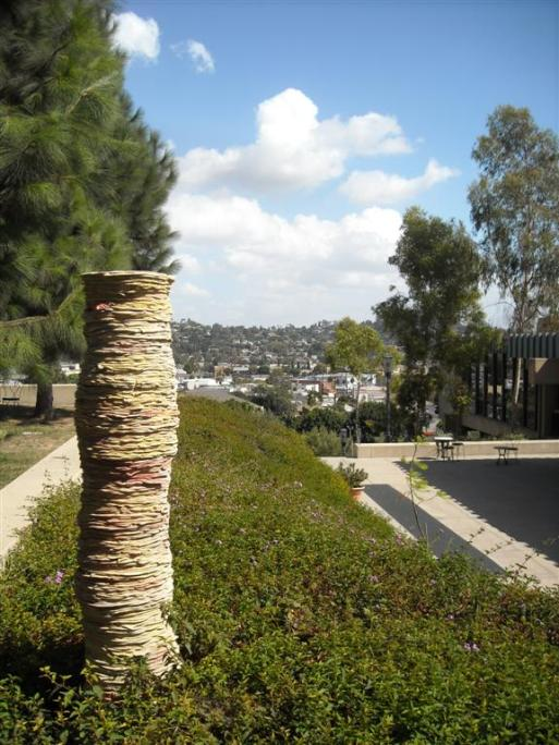One of the many stunning views from the Barnsdall Art Park