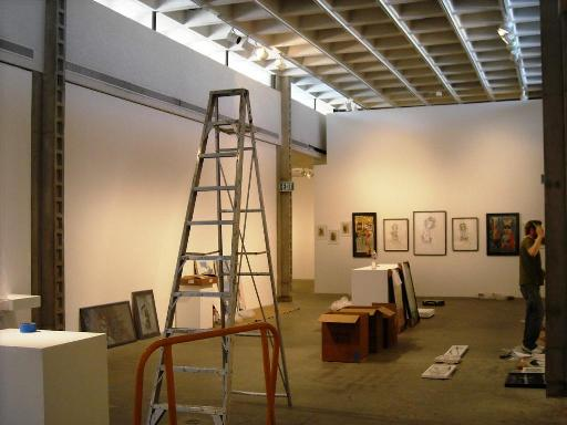 Carmichael Gallery working on installing their works