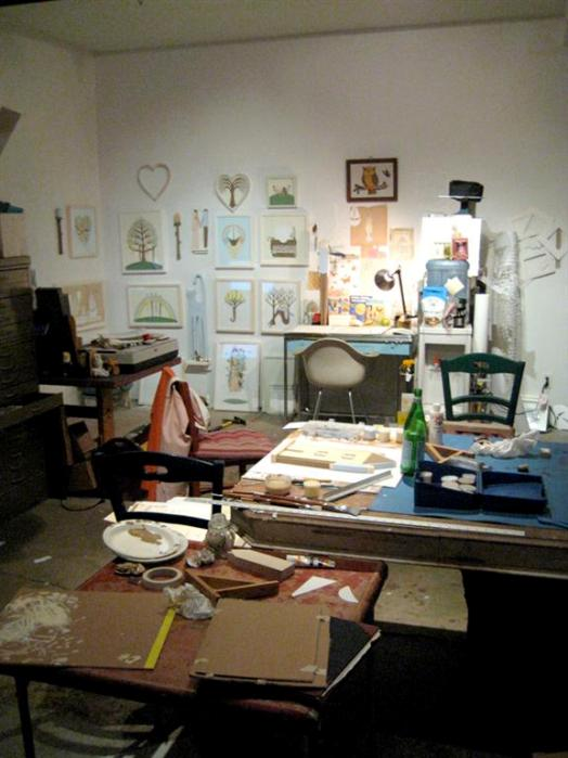 Karpinski's studio in full production mode for next Fri's show