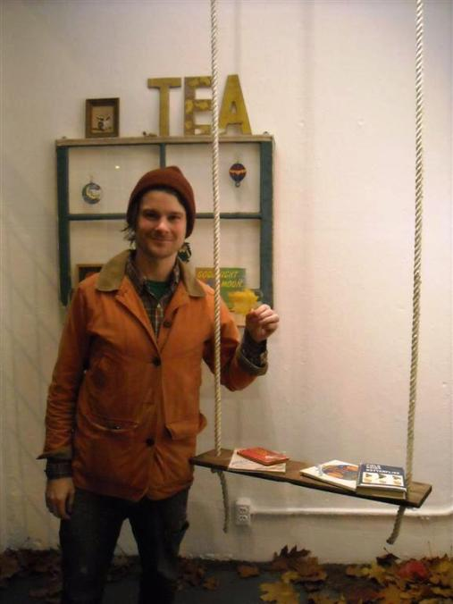 Timothy Karpinski in the front entry install area... you just have to see his show in person folks!!!