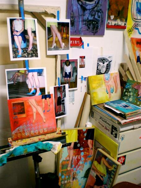 Shot of Barker's studio