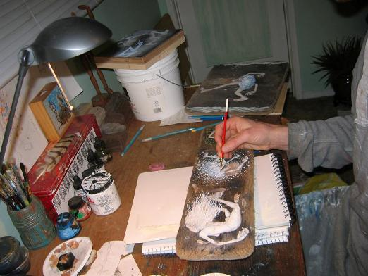 Jesse at work in his studio