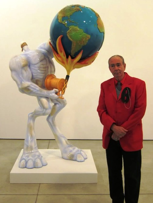 Robert Williams at his NYC opening for 'Conceptual Realism In The Service Of The Hypothetical'