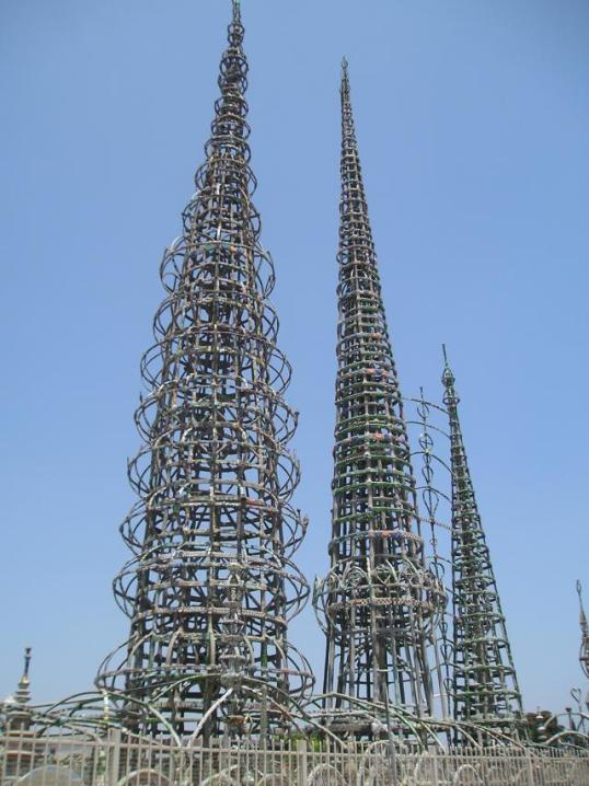 The historic Watts Towers