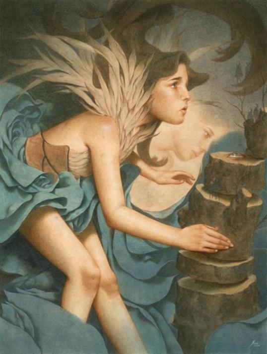 "Tran Nguyen - ""And Our World Came Tumbling After"" - 12x16"""