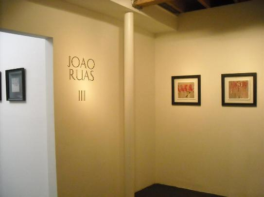 View of the project room featuring the work of Joao Ruas