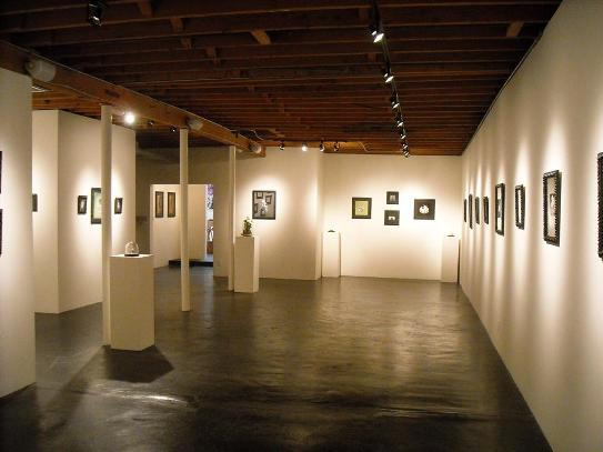 View of the main gallery featuring the work of Allison Sommers